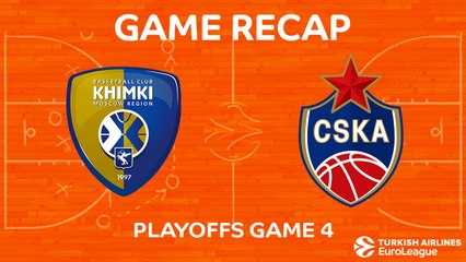 EuroLeague 2017-18 Highlights Playoffs Game 4 video: Khimki 88-89 CSKA