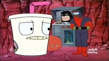 Cybernetic Ghost Of Christmas Past From The Future.Aqua Teen Hunger Force S01e18 Cybernetic Ghost Of Christmas