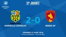 J32 : GS Marseille Consolat - Rodez Aveyron Football (2-0), Le résumé