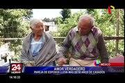 Ellos llevan más de 80 años de casados y cuentan su secreto