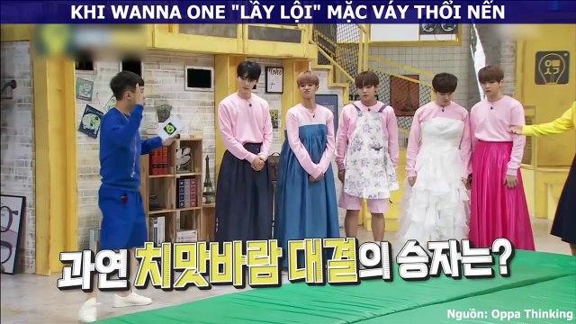 """Hiếm ai như dàn trai đẹp nhà Wanna One: """"lầy lội"""" mặc váy chơi trò chơi cũng khiến chị em rụng tim"""