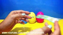 3 Surprise eggs Kinder Surprise! Peppa Pig Spongebob Kinder Niespodzianka