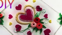 DIY Heart greeting cards for birthday - Easy ideas using paper - Gift Crafts!