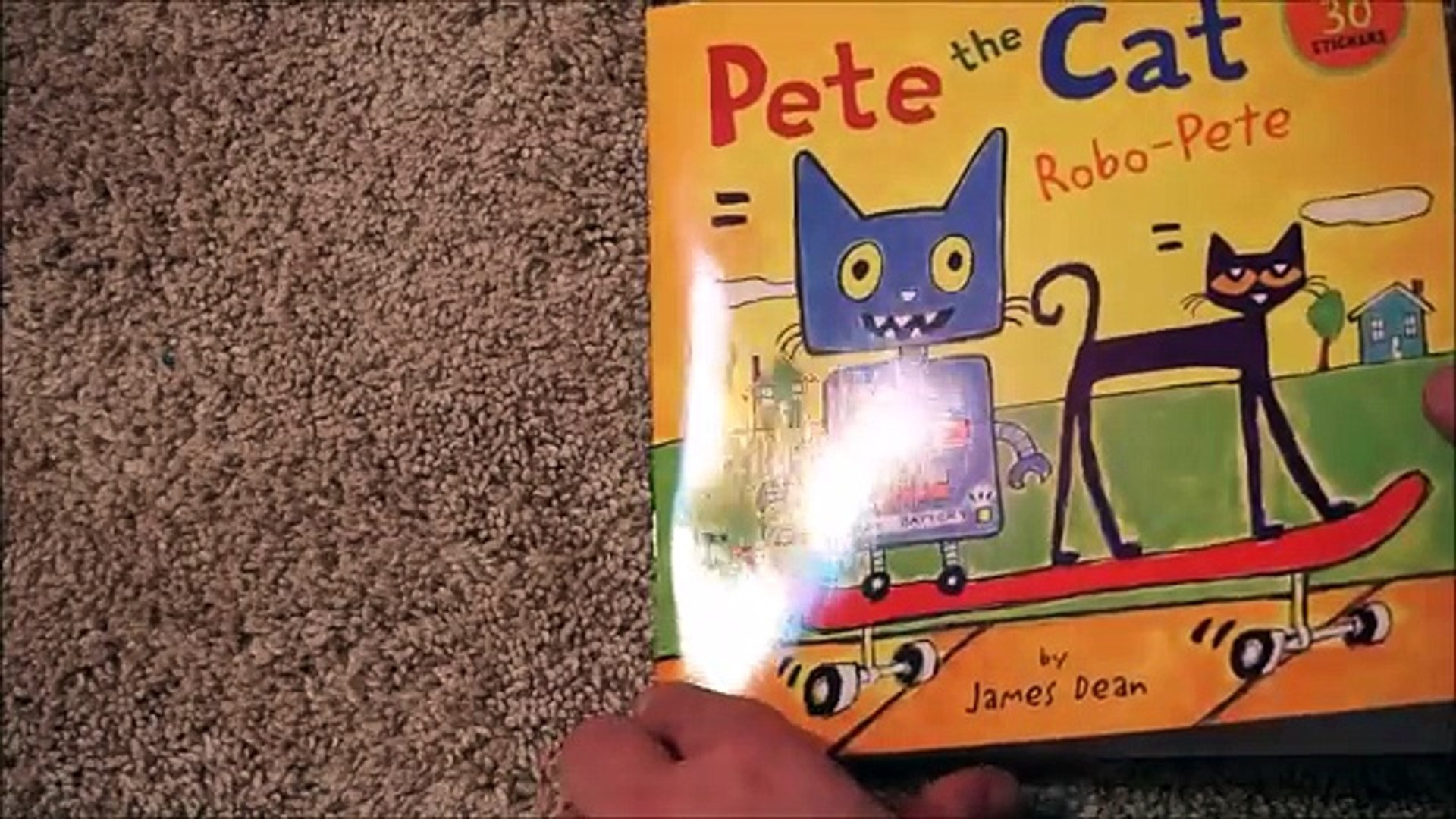 Pete The Cat ~ Robo-Pete Childrens Read Aloud Story Book For Kids By James Dean