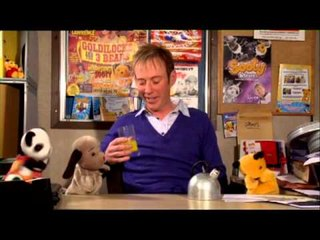 Sooty, Sweep, Soo and Richard Cadell talk about old times with Harry Corbett and Mathew Corbett