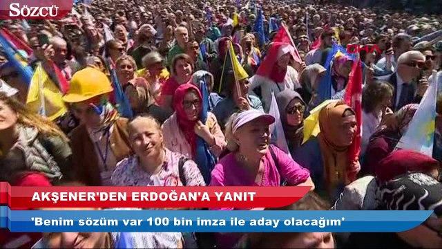Meral Akşener'den Erdoğan'a yanıt