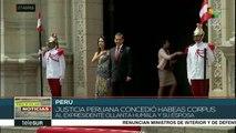 Perú: justicia concede hábeas corpus a Ollanta Humala y esposa
