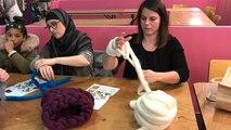 Atelier de tricot sans aiguilles