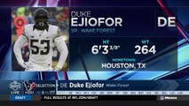 Texans select Duke Ejiofor No. 177 in the 2018 NFL Draft