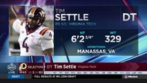 Redskins select Tim Settle No. 163 in the 2018 NFL Draft