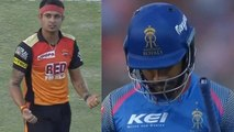 IPL 2018 SRH vs RR : Sanju Samson out for 40 runs, Siddharth Kaul strikes