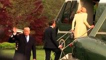 Etats-Unis : Mais où est donc passé l'arbre planté par Macron et Trump à la Maison Blanche ?