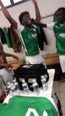 La joie de nos verts après la victoire à Raon l'Étape hier (0-6)