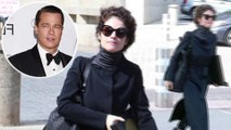 Brad Pitt's love Neri Oxman models another Angelina Jolie look as she gets back to work near Boston.