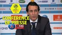 Conférence de presse Paris Saint-Germain - EA Guingamp (2-2) : Unai EMERY (PARIS) - Antoine  KOMBOUARE (EAG) / 2017-18