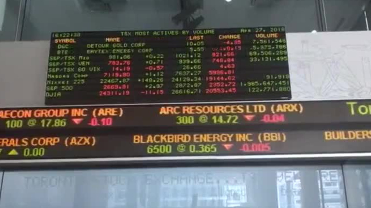 Rare Outage At Canada's Major Stock Exchanges