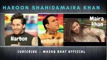 maira khan and haroon shahid in mazaaq raat ,  mazaaq raat latest 2018 ,  best of mazaaq raat ,  best of nirgoli