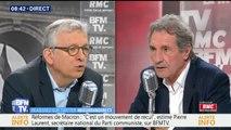 """Réformes du gouvernement: """"J'appelle ça de la régression sociale, pas de la réforme"""" (Pierre Laurent, PCF)"""
