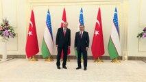 Cumhurbaşkanı Erdoğan, Özbekistan Cumhurbaşkanı Mirziyoyev ile görüştü - TAŞKENT