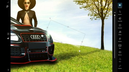 PicsArt Creative Editing - Sexy Audi Lady - by PAP Creation