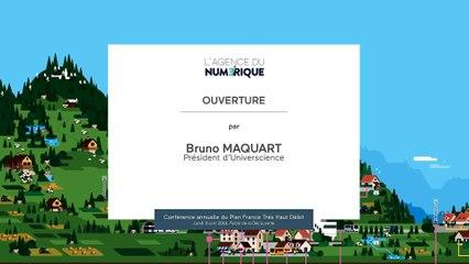Discours d'ouverture par Bruno MAQUART | Conférence Plan France Très Haut Débit (4ème édition)2_Ouverture bruno Maquart