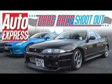 Nissan Skyline R33 GT-R vs Nissan GT-R: Drag Race Shoot-out