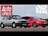VW Golf GTI Mk1 vs Golf GTI Mk7 - Old vs new drag race challenge