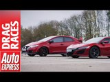 Honda NSX vs Civic Type R drag race: hot Honda family feud