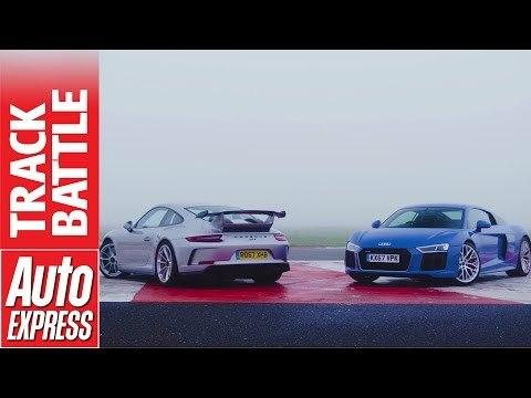 Audi R8 RWS vs Porsche 911 GT3: which is fastest in the wet?