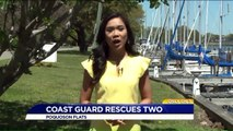 Coast Guard Rescues Father and Daughter Aboard Sinking Tugboat