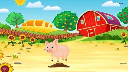 Funny Dinosaur Cartoons episode 3 Learn Animals: Cow & Pig | Educational Videos | Toon-O-Saur