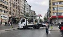 Şişli'de polisten iş makineli önlem