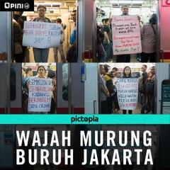 Wajah Murung Buruh Jakarta