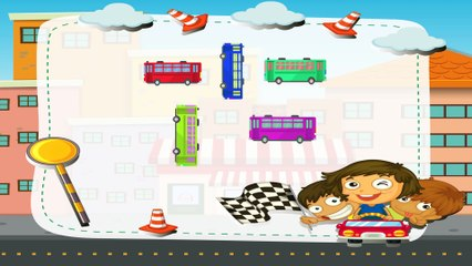 Полицейская машина и автобус - Обучающий мультик для малышей про машинки