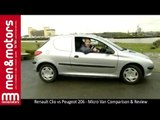 2002 Renault Clio vs Peugeot 206 - Micro Van Comparison & Review