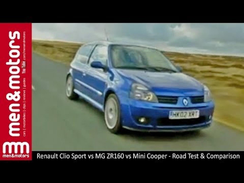 Renault Clio Sport Vs Mg Zr160 Vs Mini Cooper Road Test Comparison Video Dailymotion