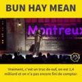 Petit instant animalier avec Chinois Marrant Aka Bun Hay Mean qui nous parle hiboux, vaches et chevauxMerci Montreux Comedy !