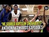 """HE SCORED 40PTS IN ONE HALF!"" Anthony Edwards Explodes At UA Ballislife Highlights"