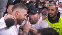 Sergio Ramos sings with fans after Real Madrid reach Champions League final - Real Madrid 2-2 Bayern Munich 01.05.2018