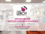 Salon Leroy, sellerie, fauteuils et canapés à Saint-Gervais-la-Forêt.