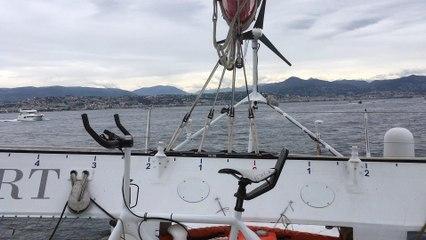 La Baie des Anges et les Montagnes vues d'IDEC SPORT