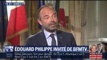 """Manifestation du 1er mai: """"Ce n'est pas parce que le Président part en voyage officiel en Australie qu'il n'y a pas de pilote dans l'avion"""" dit Philippe"""