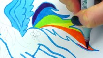 My Little Pony   How to Draw Rainbow Dash Alicorn   Video for Kids (2)