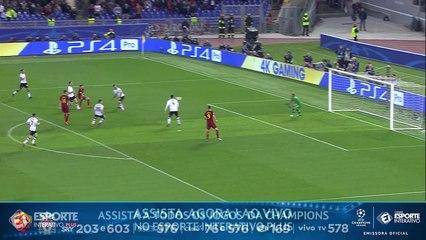 GOL DA ROMA! TUDO IGUAL! Dzeko aproveita rebote do goleiro e empata para a Roma contra o Liverpool!