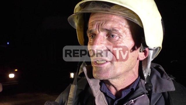 Report TV - Vlorë, përfshihet në flakë një  garazh pallati, flet drejtori i zjarrfikësve