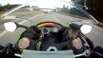 300 km/h sur l'autoroute en moto... Sensations et frayeurs !