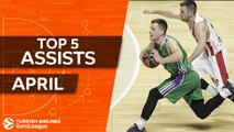 Turkish Airlines EuroLeague, Top 5 Assists of April