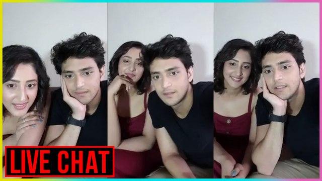 Shivya Pathania & Kinshuk Vaidya CUTE SURPRISE For Fans | Live Chat