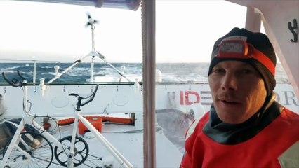 Au petit matin à bord d'IDEC SPORT - 3-05-2018