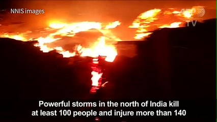 100 killed as powerful storms ravage north India